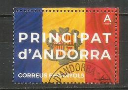 ANDORRA. Bandera Y Escudo / Drapeau & Blason, 2021, Oblitéré, 1 ère Qualité - Used Stamps
