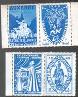 Auxerre, 4 Vignettes 1948 - Tourisme (Vignettes)