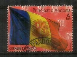 Bandera D'Andorra /Drapeau D'Andorre. (Poder és Més Fort) 2020,  Oblitéré,  1 ère Qualité. Usado 1 Era Calidad - Used Stamps