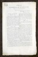 Giornale Italiano N. 104 - Milano 1804 Anno III Repubblica Cisalpina / Italiana - Non Classificati