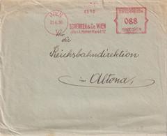 AUTRICHE 1930 LETTRE EMA DE WIEN - Marcofilie - EMA (Print Machine)