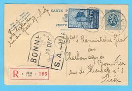 Belgique N° 389 Recommandé Liège -Luik 10 XII 1934 - Sin Clasificación