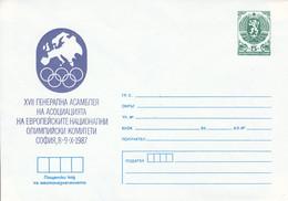 1987 - BULGARIA - OLYMPIC  COMMITEE - PRINTED LETTER - Cartas