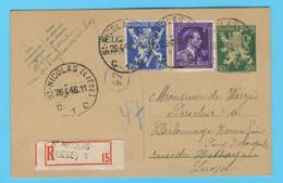 Belgique N° 683 - 693 Recommandé ST Nicolas (Liège) 26 4 1946 - Sin Clasificación