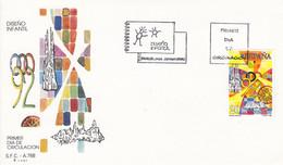 1990 - SPAIN - ESPAGNE - OLYMPICS 92 - FDC  CHILDRENS DRAWING - 1991-00 Cartas