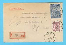 Belgique N°  711 - 765  Recommandé Ans 27 - 9 -1948 - Sin Clasificación