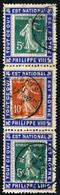 FRANCE Ca.1910 - 2xYv.137 & Yv.138 Se-tenant Sur Trois Porte-Timbres PHILIPPE VIII - Obl. - Sin Clasificación