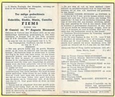 BP371 - BIDPRENT - DOODSPRENT - GABRIELLE ELODIE MARIE CAMILLA FIEMS - TORHOUT 1919 / BRUGGE 1944 - Sin Clasificación