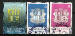 Blasons, Nouvelles émissions Années 2016-2017-2018 (validitée Permanente). 3 Timbres Oblitérés, 1 ère Qualité - Used Stamps