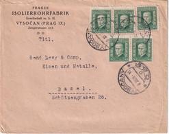 TCHECOSLOVAQUIE 1926 LETTRE DE VYSOCAN - Briefe U. Dokumente