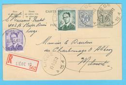 Belgique N° 1029 - 1060  Recommandé Liège  11 - 1 -1960 - Sin Clasificación