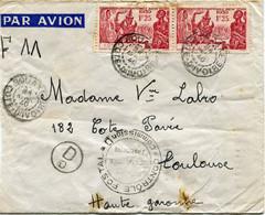 COTE D'IVOIRE LETTRE PAR AVION CENSUREE DEPART BOUAKE 24 AVRIL 40 COTE D'IVOIRE POUR LA FRANCE - Briefe U. Dokumente