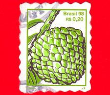 BRASILE - Usato - 1998 - Frutta - Pigna - Pinha - 0.20 - Usados