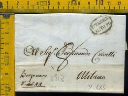 Piego Con Testo Cremona Alto Po Per Milano - 1. ...-1850 Prephilately