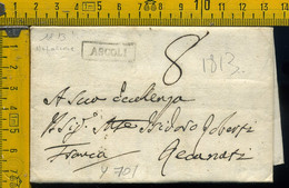 Piego Con Testo Ascoli Per Recanati - 1. ...-1850 Prefilatelia