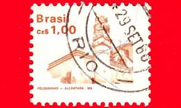 BRASILE - Usato - 1988 - Patrimonio - Chiesa Dei Pellegrini Ad Alcantara - Brazilian Heritage - 1.00 - Oblitérés