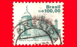 BRASILE - Usato - 1987 - Patrimonio - Chiesa Della Madonna Addolorata, Campanha - Brazilian Heritage - 100 - Oblitérés