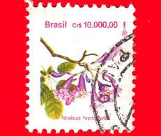 BRASILE - Usato - 1992 - Fiori Brasiliani - Flowers - Tabebuia Heptaphylla - 10000 - Usados