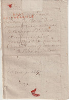 "FRANCE : MP . "" N° 45 GRANDE ARMEE "" . DU 01/03/1808 . EN ROUGE . REGION DE POSTDAM .POUR RENNES . - Army Postmarks (before 1900)"