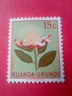 "RUANDA-URUNDI (REP. DU BURUNDI) - Timbre 1952 : Fleurs ""Protea"" - 1948-61: Neufs"