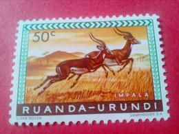 "RUANDA-URUNDI (REP. DU BURUNDI) - Timbre 1960 : Animaux ""Impalas"" - 1948-61: Neufs"
