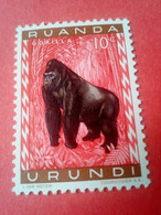"RUANDA-URUNDI (REP. DU BURUNDI) - Timbre 1960 : Animaux ""Gorilla"" - 1948-61: Neufs"