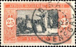 """SÉNÉGAL - 1930 CàD De """" KIDIRA """" Sur Yv.76 25c Rouge & Noir - Used Stamps"""