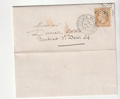 Lettre Avec Classiques De France: Napoléon N°21, Paris, étoile 6, 1865 - 1862 Napoleon III