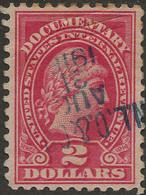 United States Revenue 1914 SC R218 Liberty $2 Carmine Used - Fiscaux