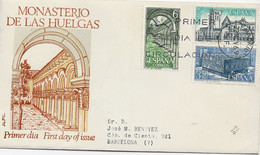3585 Carta  Certificada Madrid  1969, S.F. Monasterio De Las Huelgas. Burgos,  Carteria Barcelona - 1961-70 Cartas