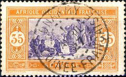 """SÉNÉGAL Utilisé En GUINÉE - 1927 CàD De """" CONAKRY """" Sur Yv.62 35c Orange & Violet - Used Stamps"""
