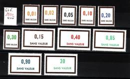 Lot FICTIFS 1972 N**  F967 - Finti