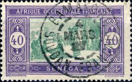 """SÉNÉGAL Utilisé Au SOUDAN FRANÇAIS - 1927 CàD De """" BAMAKO """" Sur Yv.63 40c Violet & Vert - Used Stamps"""