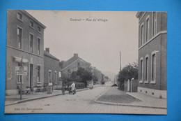 Ombret 1912 Près De De Amay: Rue Du Village Animée Avec Laitière Et Charette à Chien. RARE - Amay