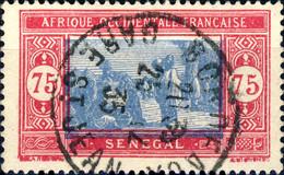 """SÉNÉGAL Oblitéré En FRANCE - 1935 CàD De """" BORDEAUX / GARE ST JEAN """" Sur Yv.84A 75c Rose-carmin & Gris-bleu - Used Stamps"""