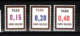 Lot FICTIFS Taxe 1972 N**  F979 - Fictifs