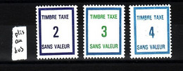 Lot FICTIFS Taxe 1985 N**  F983 - Fictifs