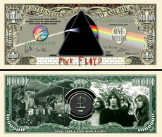 !!! USA - FANTASY NOTE - THE  PINK  FLOYD  BAND  - UNC - Other