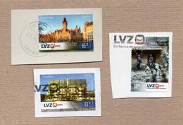 [V031] BRD - Privatpost - LVZ - Lot Von 3 W Gest. - Rathaus, Gewandhaus, Völkerschlachtdenkmal - Privatpost