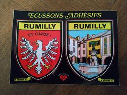AUTOCOLLANT STICKER BLASONS ECUSSONS ADHÉSIFS RUMILLY – ET CAPOE! - Stickers