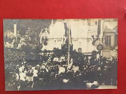 CPA PHOTO MONACO PROCESSION DEVANT SAINTE DÉVOTE - Monte-Carlo