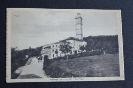 CARTOLINA POLINAGO VIA PIANA PAESE CHIESA CAMPANILE VG 1926 - Modena