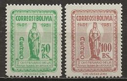 BOLIVIE: **, PA N° YT 140 Et 141, TB - Bolivien
