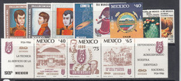 1986 Mexico 11 Different Stamps MNH - Mexico