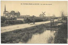 85-NOTRE-DAME-DE-MONTS-La Route Des Marais...  Animé  Moulin à Vent... - Andere Gemeenten