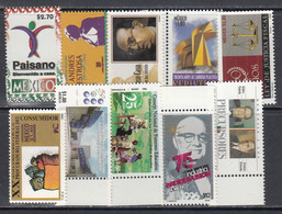 1996 Mexico 10 Different Stamps MNH - Mexico