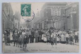 C. P. A. : 59 MARETZ : Fabrique Tabourier Et Cie, Sortie D'Usine, Timbre En 1907, RARE - Altri Comuni
