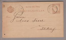 Ungarn Heimat Derecske 1882-03-09 Ganzsache Nach Tokaj - Briefe U. Dokumente