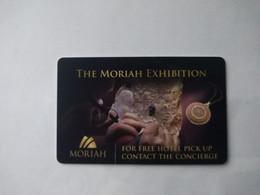 Israel  Hotel Key, The Moriah Exhibition, (1pcs) - Cartas De Hotels