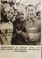 WIELERSPORT..1937.. LAUWE..JUNIORESKOERS / M. ROSSEEL DE OVERWINNAAR - Non Classés